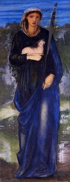Burne Jones Sir Edward Coley St Agnes